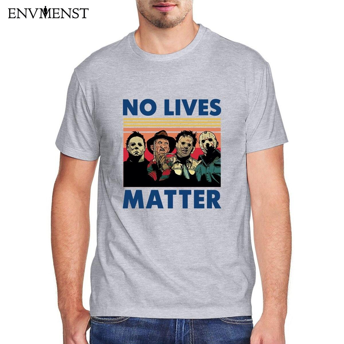 aliexpress - Envmenst t shirt men 100 cotton casual horror no lives matter men clothing oversize sweatshirt tops off white T-shirt XS-3XL