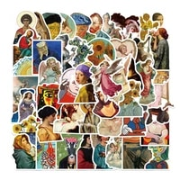 103050pcs world masterpiece painting stickers aesthetic laptop luggage notebook waterproof graffiti decal sticker pack kid toy