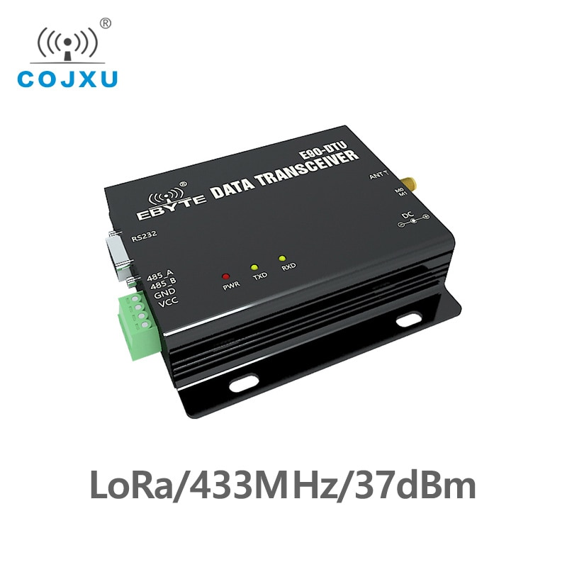 RS232 RS485 Modbus 433MHz 5W TCXO E90-DTU-433C37 Wireless Transceiver Long Range 10km PLC Transceiver and Receiver Radio Modem lora wireless module rs232 rs485 433mhz tcxo cojxu e90 dtu 433l30 wireless transceiver long range 8km plc receiver radio modem