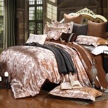 2020 Spring Jacquard bedding set luxury stain bed set blue flower bed cover sheet 4pcs/set Queen king duvet set cover home linen