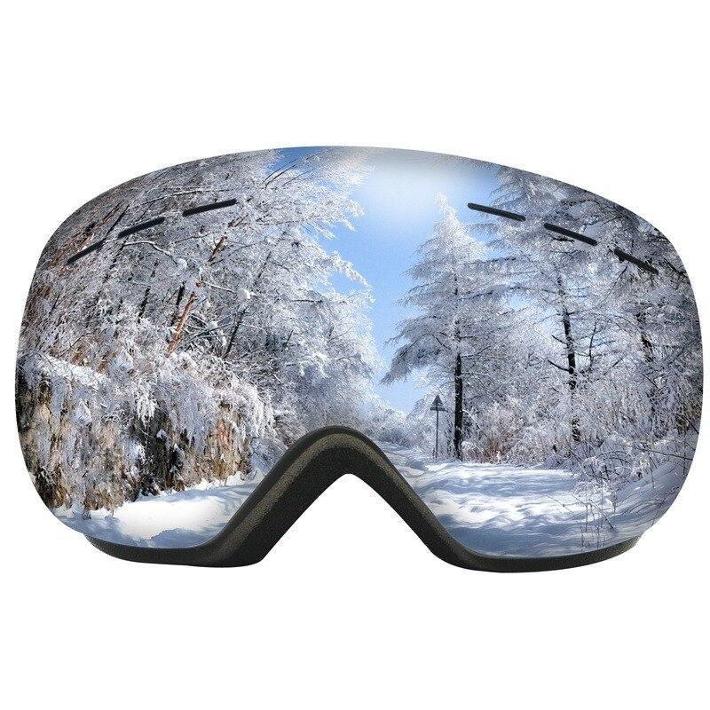Двухслойные противотуманные лыжные очки Wintersport лыжные очки для мужчин и женщин Снежная маска сноуборд очки снегоход ветрозащитный