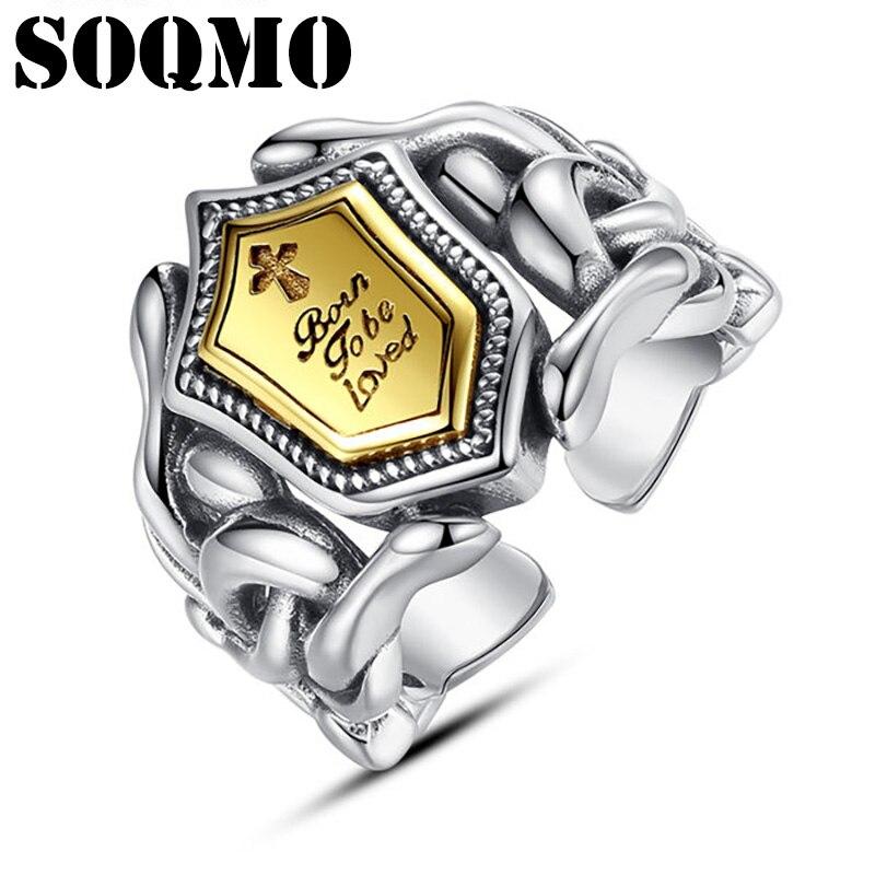 خاتم قابل للتعديل للرجال والنساء مصنوع من الفضة الإسترليني عيار 925 بحروف متقاطعة ومجوهرات أنيقة كلاسيكية أنيقة لعام 2021 شحن مجاني