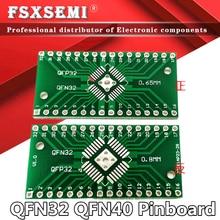 Placa de pinboard QFN32 QFP32, convertidor DIP, adaptador PCB 0,8/0,65mm, placa de transferencia Universal, 10 Uds.