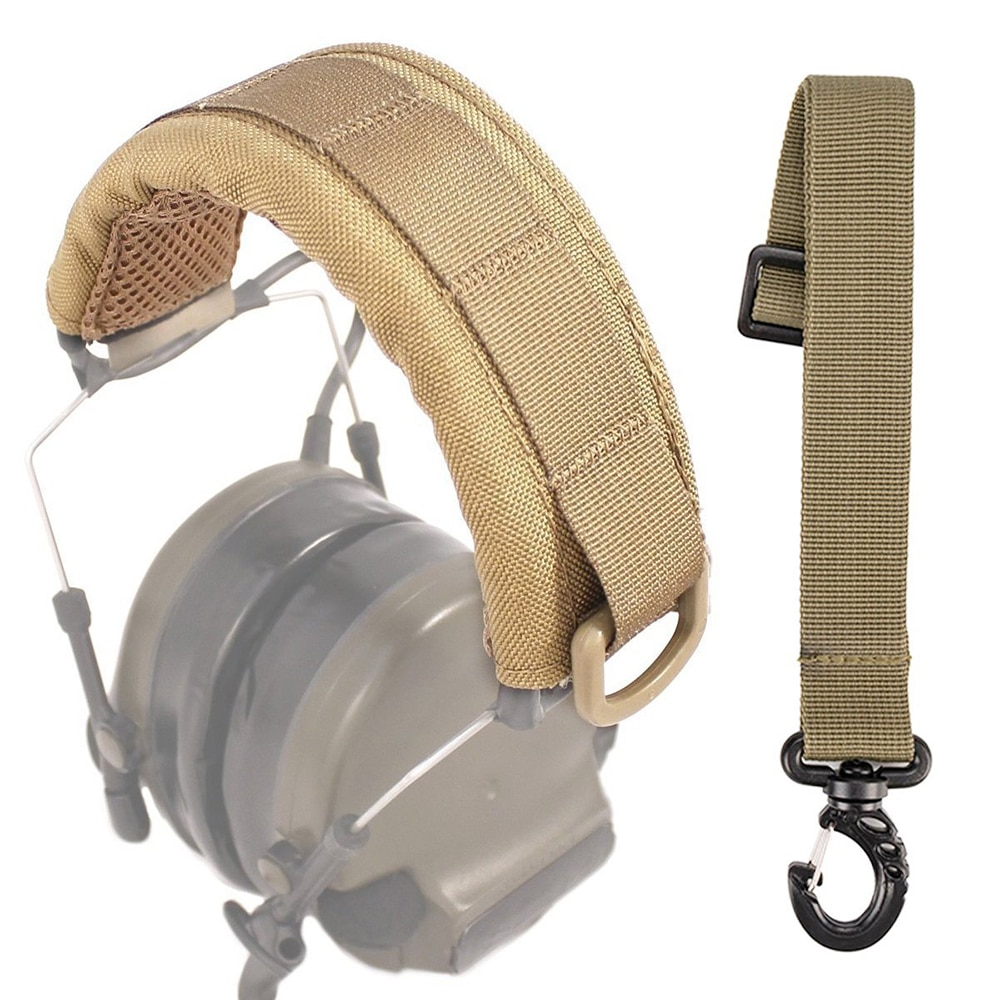 Outdoor Modular Headset Cover Molle Headband for General Tactical Earmuffs Microphone Hunting Access