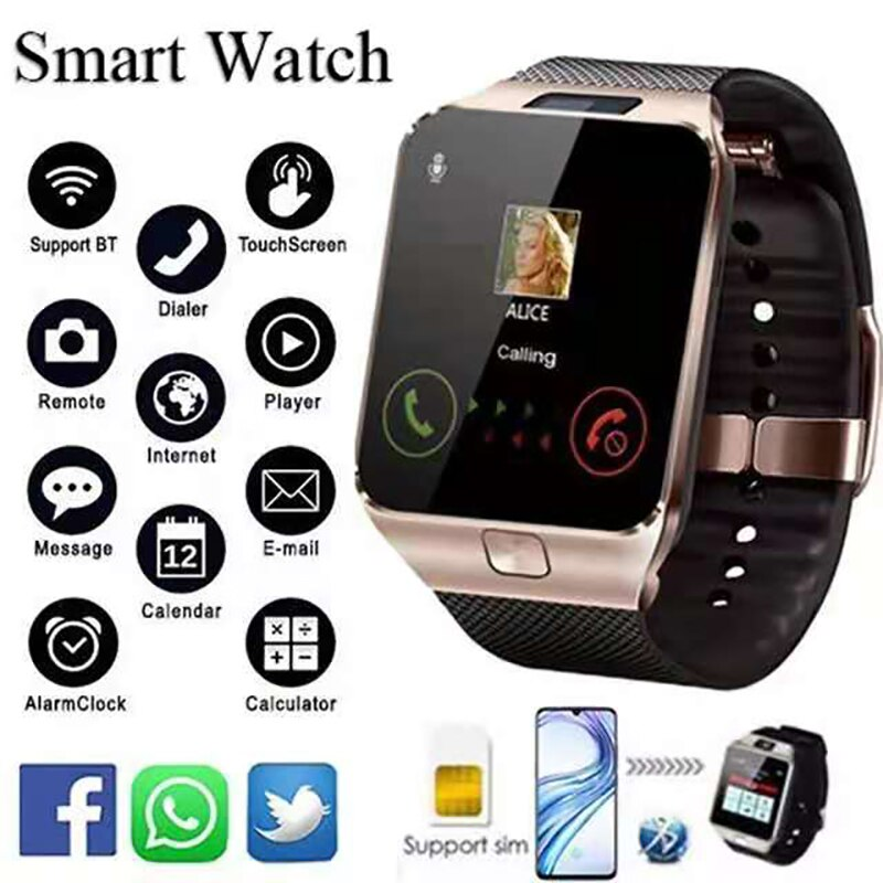 2021 Smart Watch With Sim Card Android Watch Fit Sport Waterproof Pedometer Smartwatch Men Women Wristwatch Connect Whatsapp