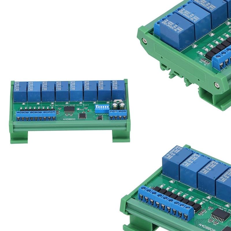 تيار مستمر 8 معزولة المدخلات و 8 الناتج DIN35 C45 UART RS485 وحدة التتابع Modbus RTU لوحة توزيع التحكم