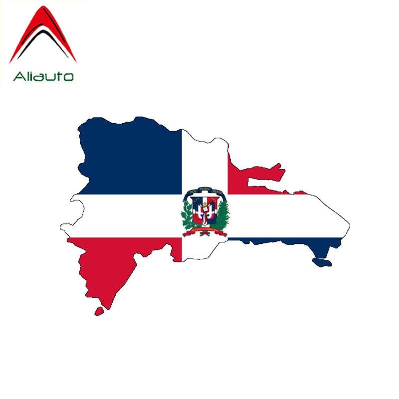 Pegatina a la moda para coche de Aliauto, etiqueta de vinilo con mapa de República Checa para cubrir rasguños para Tiguan Infiniti Peugeot Hyundai,13cm * 9cm