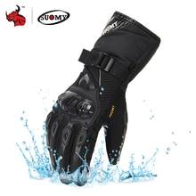 SUOMY Motorrad Handschuhe Männer 100% Wasserdicht Winddicht Winter Moto Handschuhe Touchscreen Gant Moto Guantes Motorrad Reiten Handschuhe
