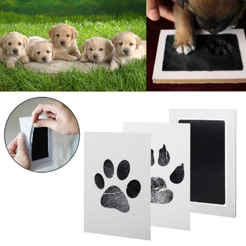 Baby Handprint Footprint Ink Pads Kits Pet Cat Dog Paw Print Souvenir Safe Non-Toxic Gifts 090C