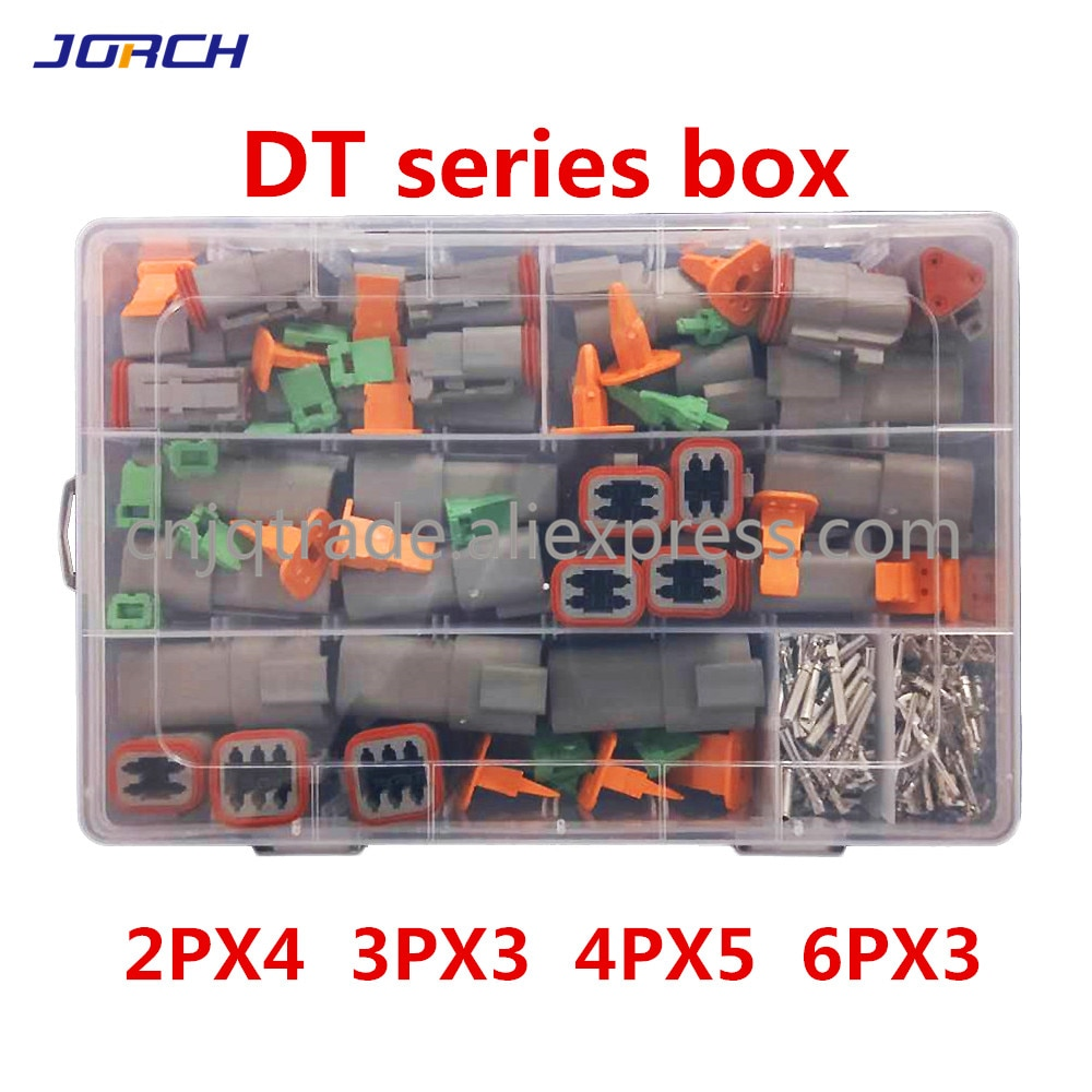 AliExpress - 250pcs Deutsch DT series Waterproof Wire Connector Kit DT06-2/3/4/6S DT04-2/3/4/6P Automotive Sealed Plug with pins box