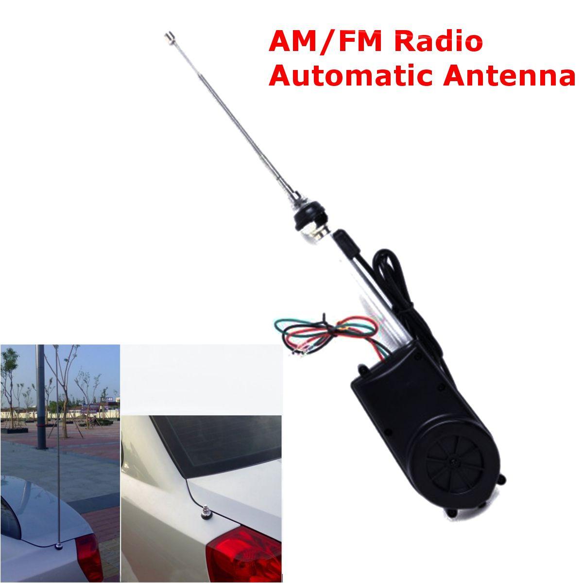 Car AM/FM Van Electric Power Radio Antenna Conversion Unit Car Electric Aerial Radio Automatic Booster Power Antenna Kit
