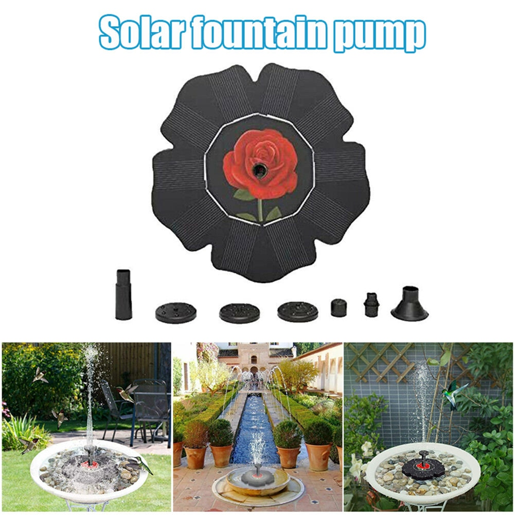 Fuente De energía Solar para exteriores, bombas De Agua flotante para estanque,...