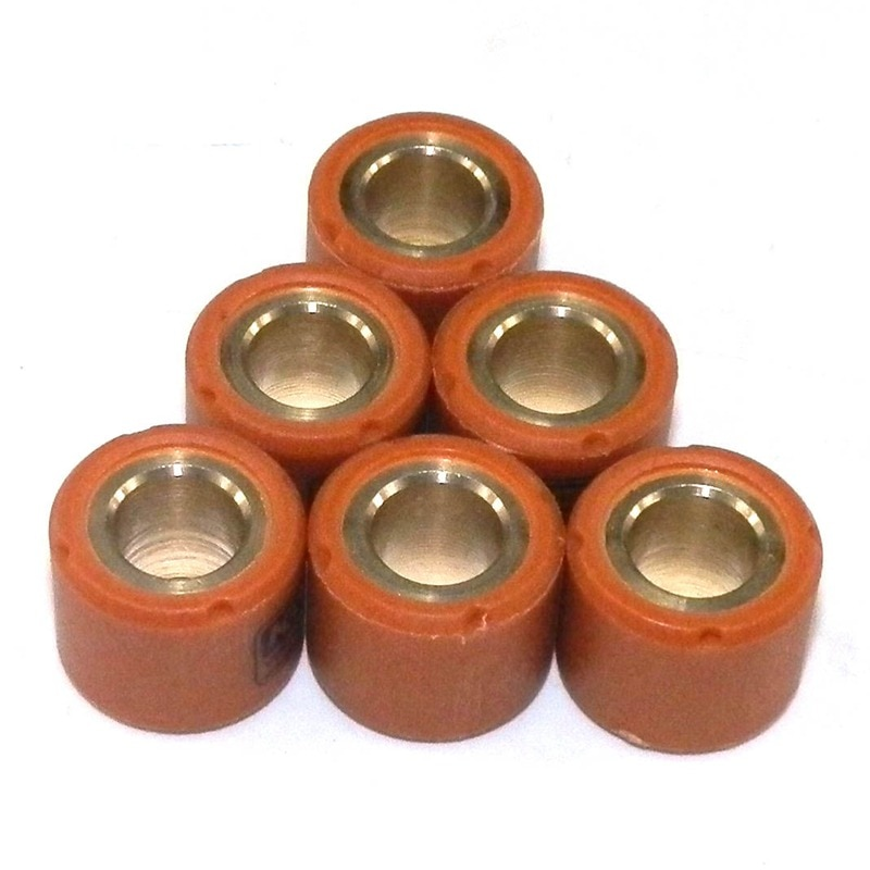 Pack of 6pcs Performance Variator Roller Weights 16mmx13mm 5g 6g 7g 8g 9g 10g For 139QMB 50cc GY6 Scooter Motorcycle Parts 16X13 beyblad spinning top fight parts metal face bolts performance tip pack 6pcs lot
