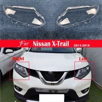 car headlight lens front light auto shellfor nissan x trail 2014 2015 2016 headlamp cover replacement lampshade lampcover caps
