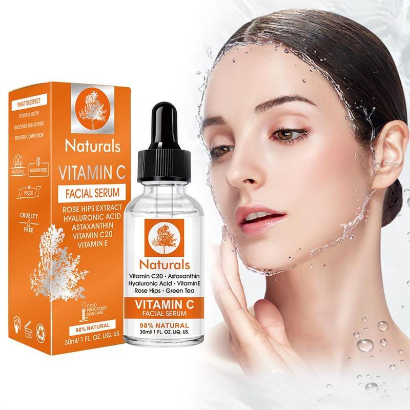 Гиалуроновая кислота Сыворотка для лица крем для сокращения пор зеленый отбеливающий контроль масла увлажняющие растения уход за кожей