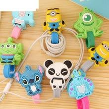 5pcs/lot Cartoon Hero Headphone Earphone Cable Storage Case Wire Organizer Cord Holder USB line Winder For iphone samsung