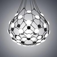 Creative Go Pendant Lights Postmodern Art Restaurant Villa Hotel Led Net Hanging Lamp Black White Nordic Kitchen Bedroom Fixture