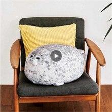 Sceau 3D de nouveauté 1 pièce   Oreiller en peluche, coussin en forme de Lion de mer, doux, pour fête, oreiller pour bébé, coussin de chaise pour la maison