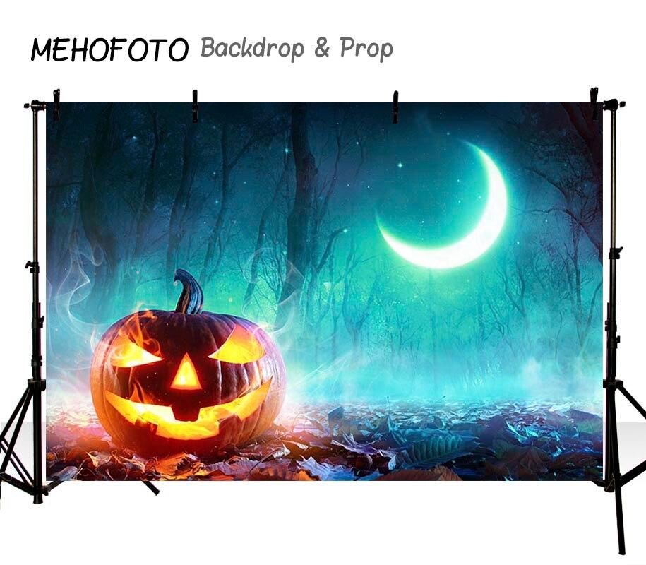 Halloween fondo personalizado vinilo fotografía calabaza lámpara Luna Fondo niños fondos para estudio fotográfico HA-261