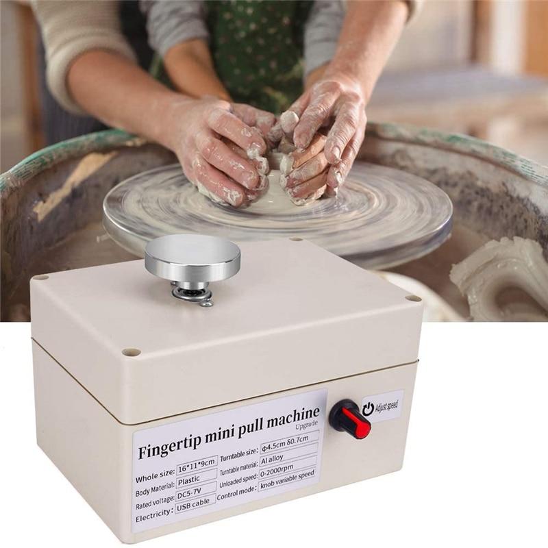 Máquina de Arte Ferramentas de Modelagem de Cerâmica Barra de Cerâmica Máquina de Cerâmica com 6 Cerâmica Crianças Artesanato Brinquedos Usb Escola Ensino Diy