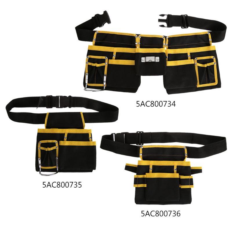 Bolsa de herramientas multifuncional para electricista, bolsa de almacenamiento para cinturón, organizador G8TB