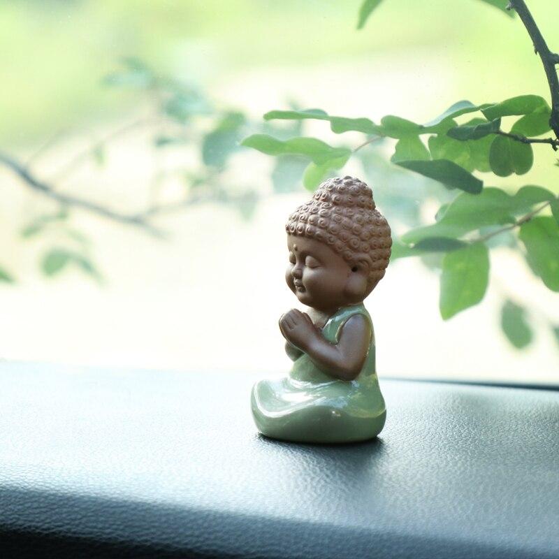 تماثيل بوذا الصغيرة ، الخزف المصقول ، الحيوانات الأليفة ، زخرفة جيياو الصينية الإبداعية ، ديكور المنزل ، الشاي ، اللعب