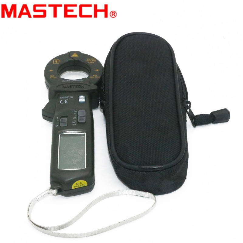 MASTECH MS2007B AC 150A Mini Digital Clamp Leaker High sensitive meter LCD 1999 zählt