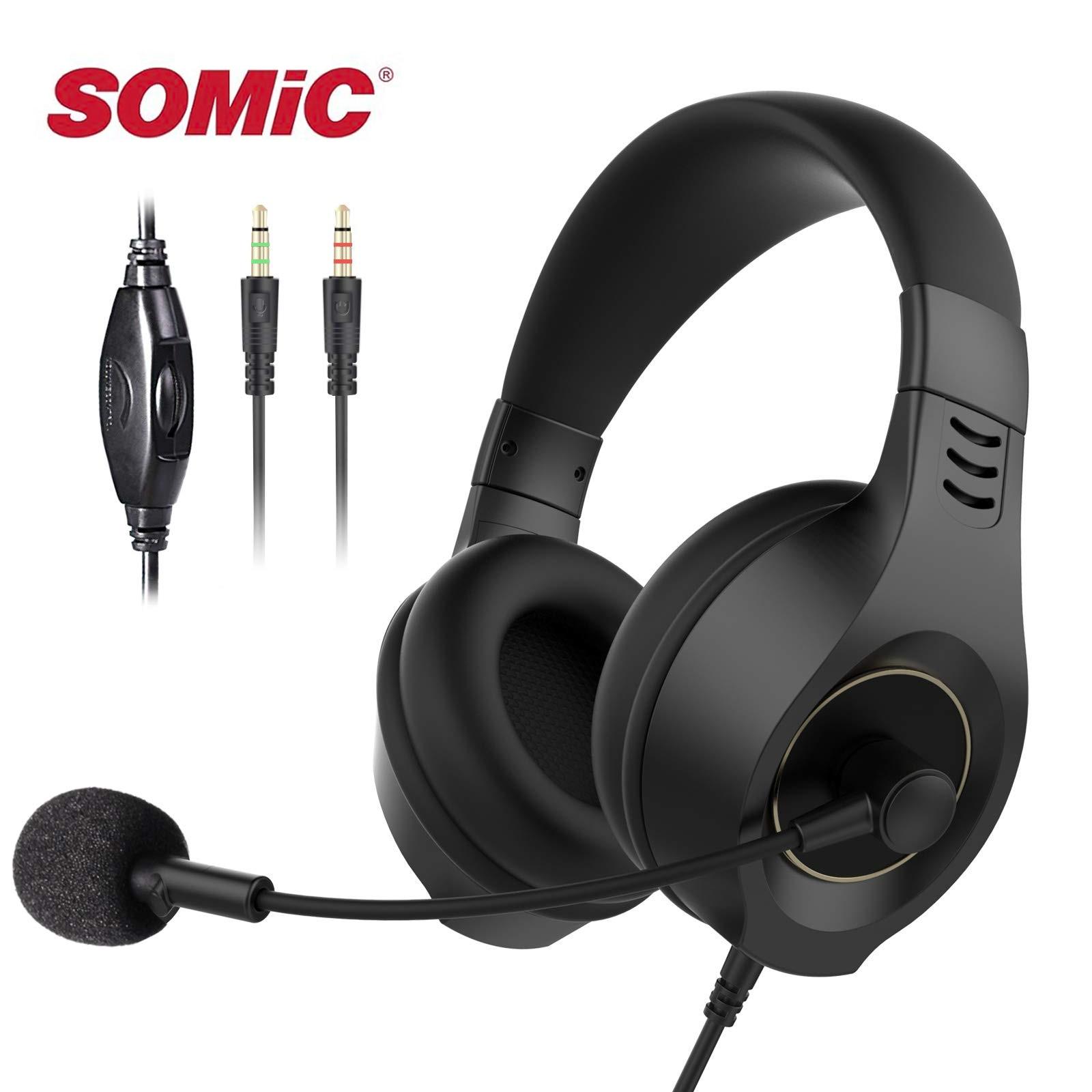Senicc Bedrade Headset Hoofdtelefoon Met Microfoon 3.5Mm Voor Pc Met Volumeregeling Zachte Voor Call Centers Business Werk E50