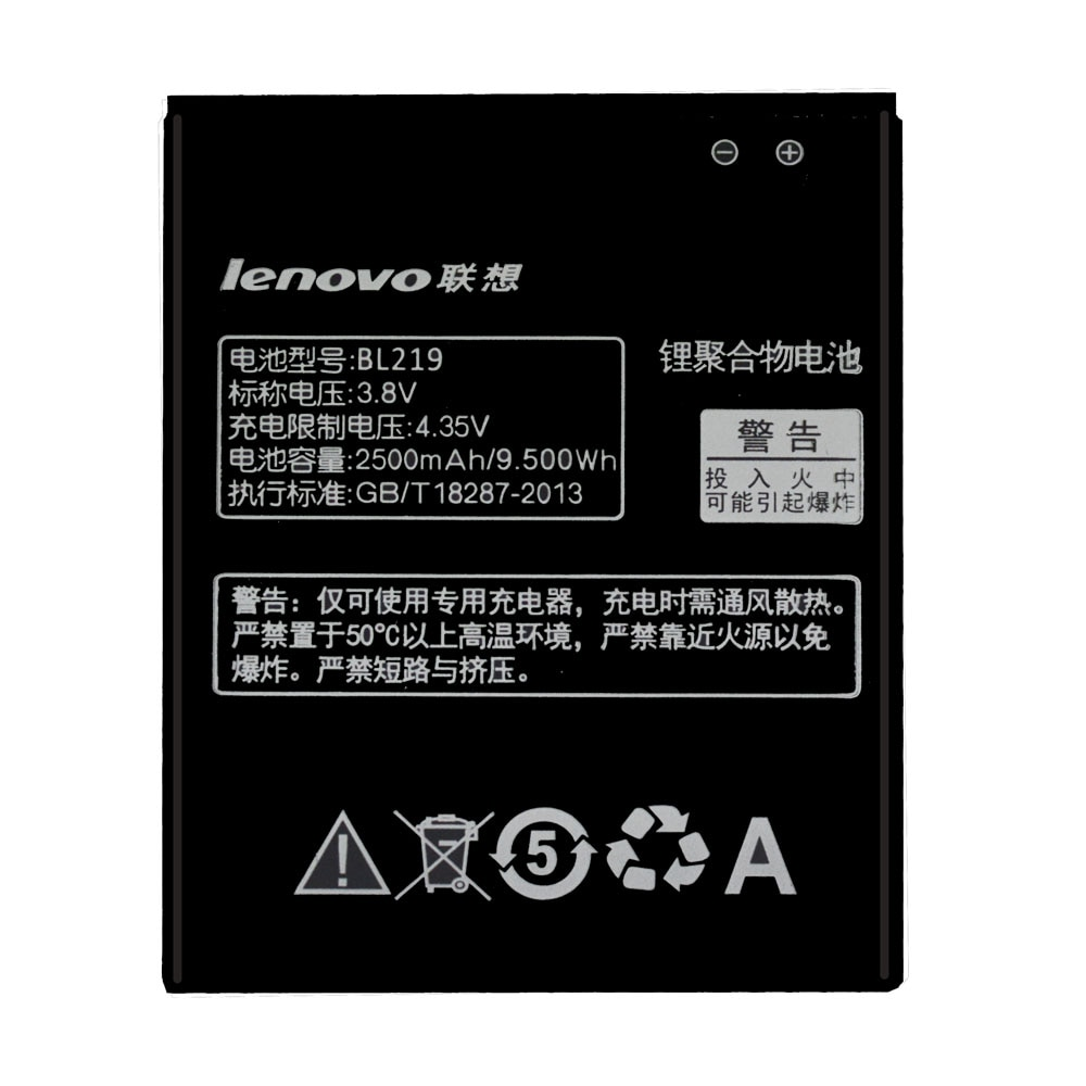 20pcs/lot Original Battery BL219 For Lenovo A880 S856 A889 A890e S810t A850+ A916 High Quality Phone Batteries akku 2500mAh enlarge