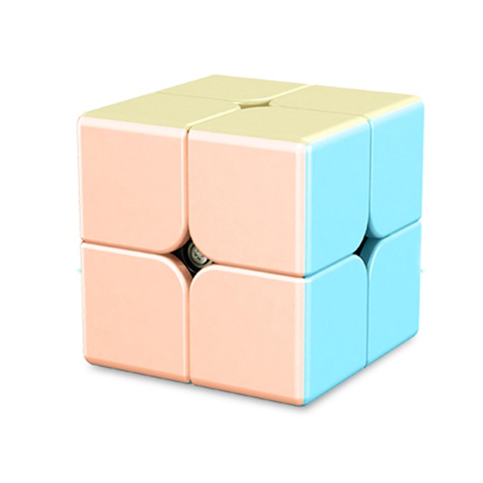Nuevo Color Meilong2 2x2x2 cubo Marcaron serie Cubo de dibujos animados de Color de rendimiento competitivo