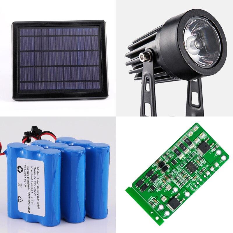 One For Four Solar LED Lights Outdoor Waterproof Lighting Gardening Underground Spotlight 3 Meter Long Lawn Lighting Control enlarge