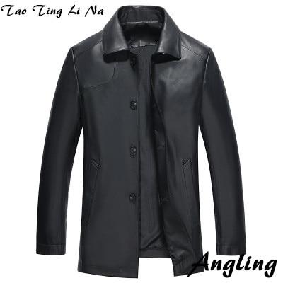 Tao Ting Li Na Men Suit Collar Genuine Real Sheep Leather Jacket H87