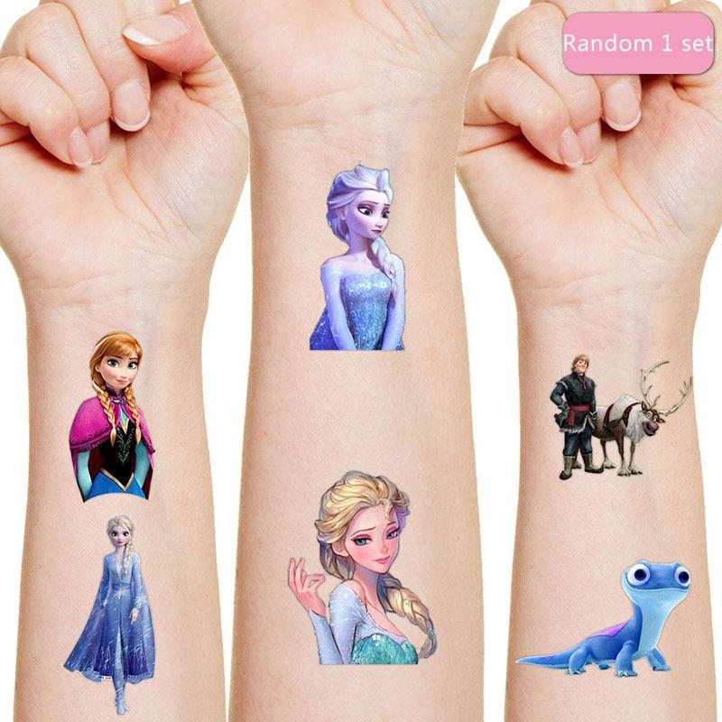 Disney Frozen Tattoo Sticker Children's Birthday Party Decoration Anna Aisha Sticker Action Figure sticker Cartoon Kids Gift