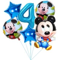 6pcs disney mickey minnie mouse theme cartoon foil balloons set baby shower birthday party decorations kids classic toy gifts