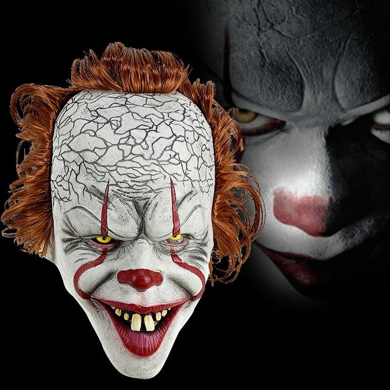 Stephen King é Máscara Pennywise Horror Palhaço Palhaço Palhaço Máscara Máscara de Halloween Adereços Traje Cosplay