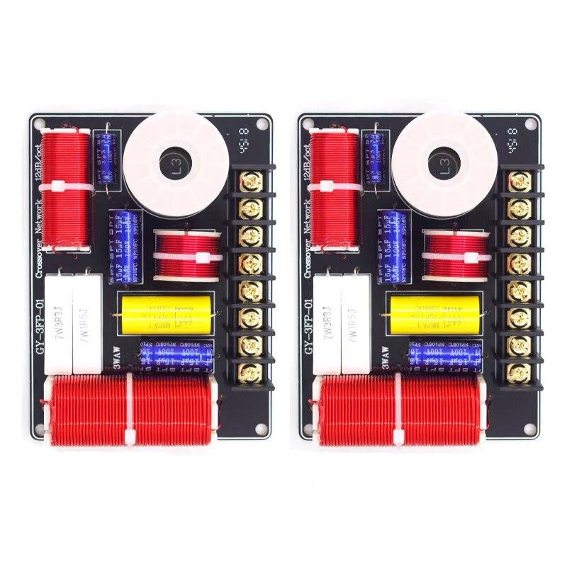 2 uds 3 vías 200W altavoz agudos Alto bajo divisor de frecuencia Home Theater estéreo Hifi 3 unidades circuito estéreo filtros de cruce de Audio
