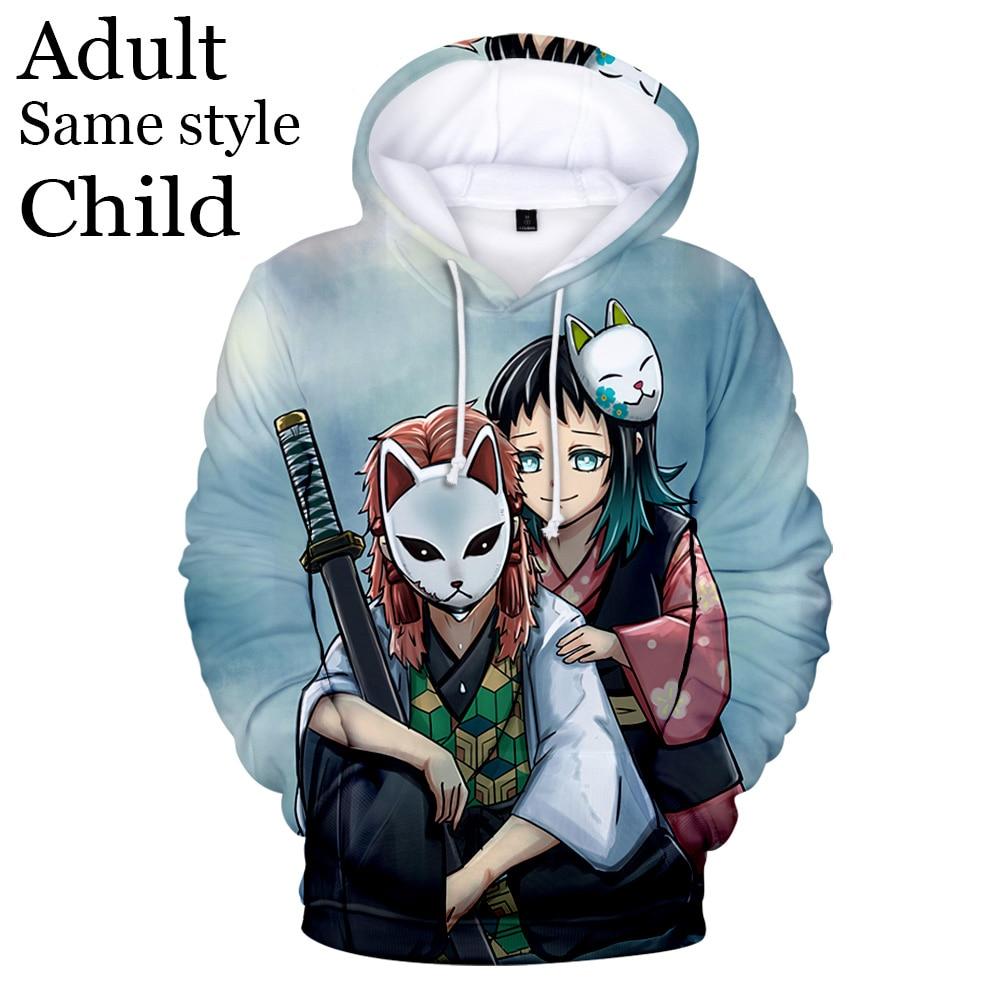Nouveau chaud Anime enfants 3D à capuche hommes et femmes pull sweats mode enfants à capuche 3D impression démon Slayer garçons sweats à capuche pour filles