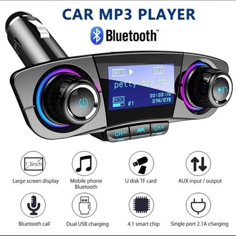 Auto Audio MP3 Player Kit Freihändiger Drahtloser Bluetooth FM Transmitter LCD Aux Modulator Smart Ladung Dual USB Auto Ladegerät Gagets