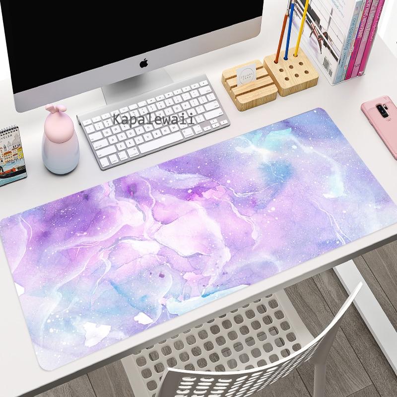 Игровой компьютерный коврик для мыши с рисунком аниме, большой коврик для мыши, розовый коврик для клавиатуры, коврик для мыши, игровые аксе...