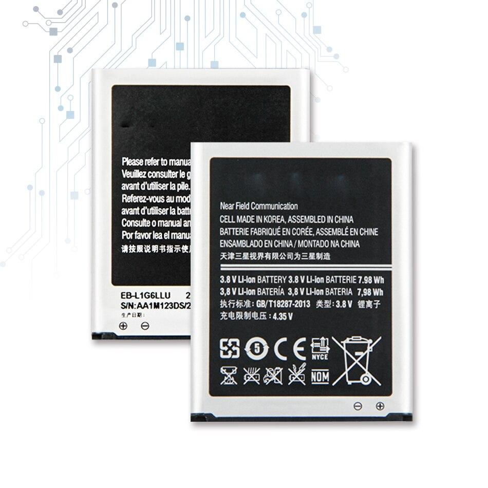EB-L1G6LLU substituição da bateria para samsung galaxy s3 i9300 i9308 l710 i535 genuíno 2100 mah com código da trilha