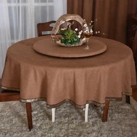 round tablecloth solid color simple plain table clothes for hotel turntable fabric decoration high end tablecloth for househould