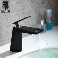 german bathroom copper waterfall basin faucet black white golden cold and hot water washbasin faucet creative basin mixer tap