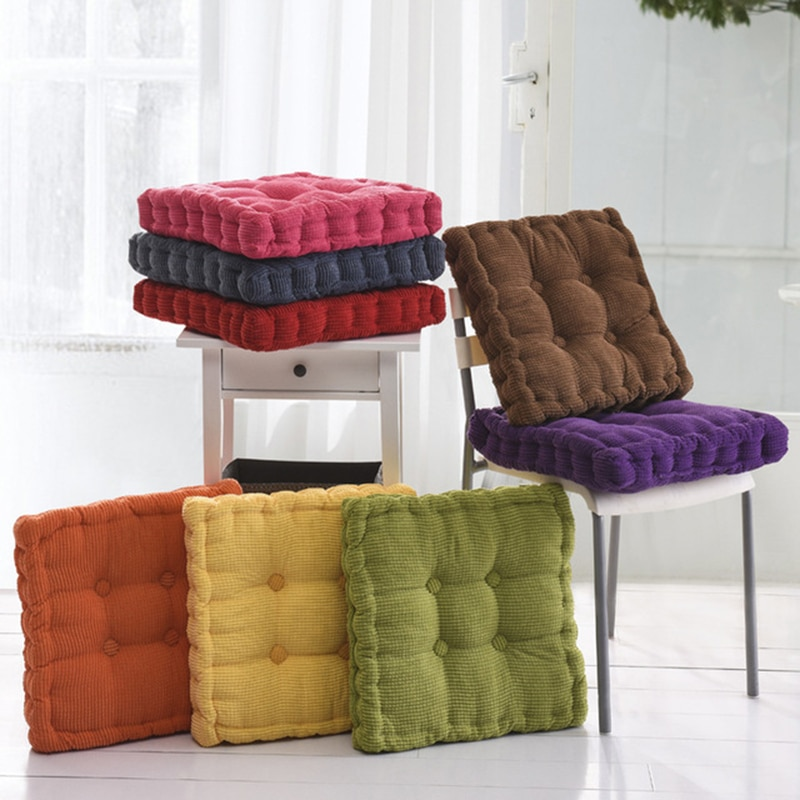 DIDIHOU, 1 pieza, Cojín cuadrado para asiento de algodón, cojín para silla para sentarse, silla de oficina o Bar, cojines para asiento trasero redondo, cómodos