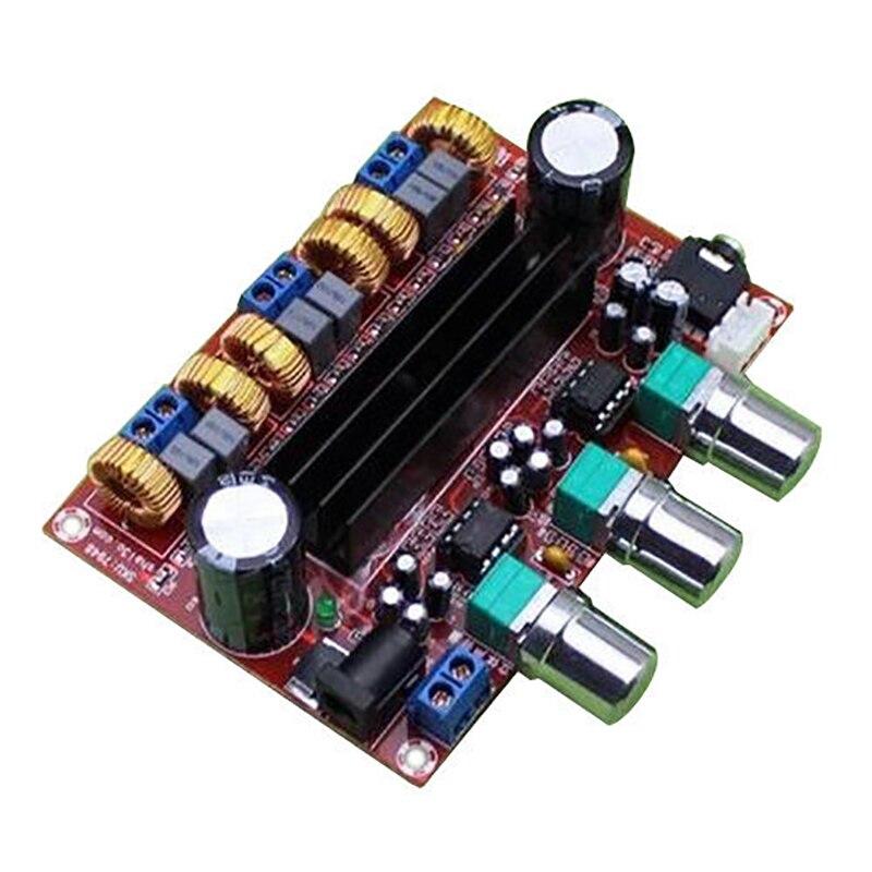 TPA3116D2 2.1CH Amplificador de potencia de Audio Digital placa 50Wx2 + 100W TPA3116D2 Amplificador de altavoz de Subwoofer 12-24V módulo Amplificador