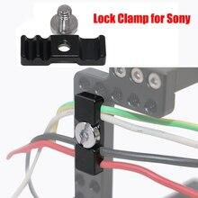 Abrazadera de bloqueo para Sony A6500/A6300/A6000 Cámara Cage Rig fotografía accesorios Cable abrazadera HDMI Cables herramienta de protección