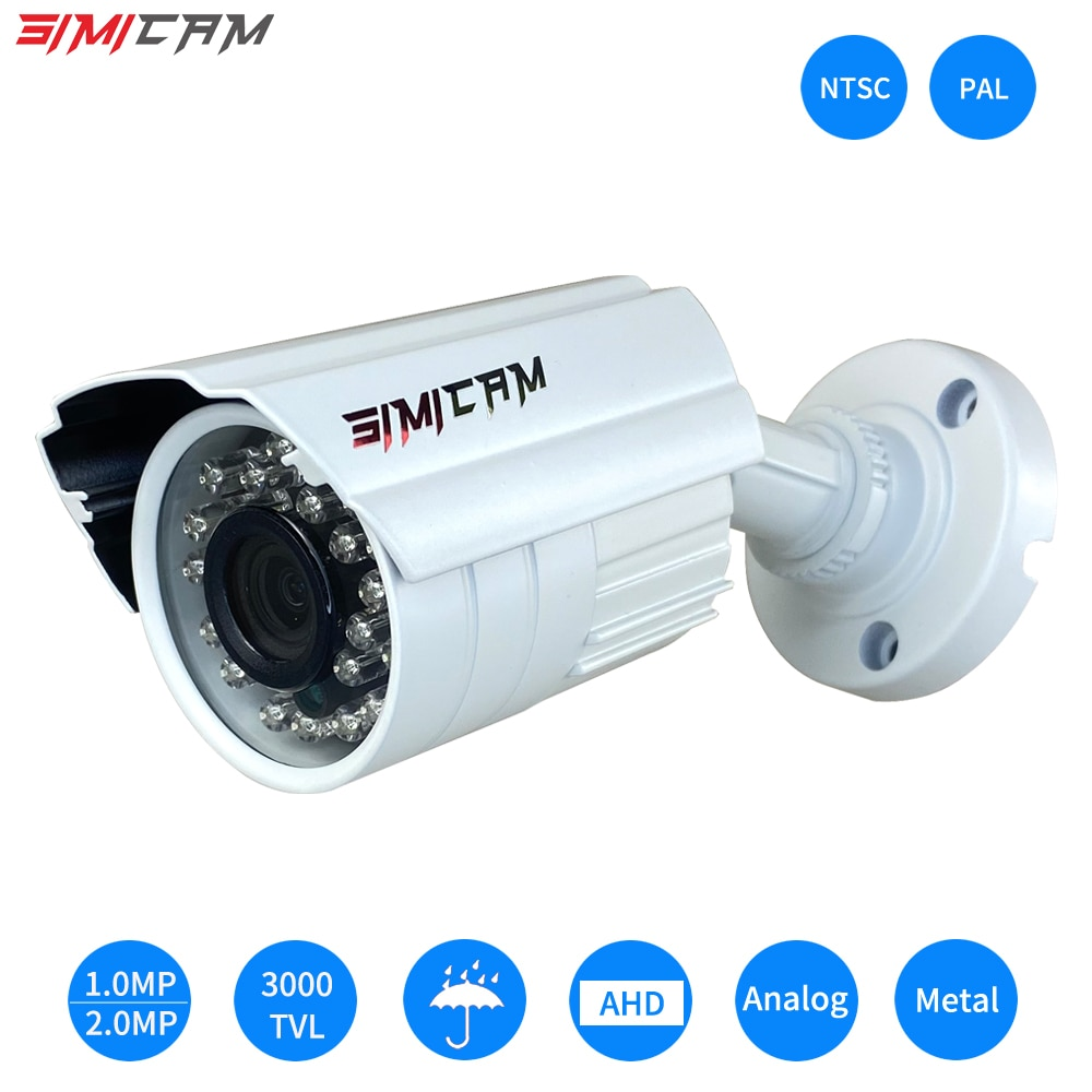 Analog AHD Video surveillance Camera 1080P 2.0MP 3000TVL NTSC/PAL Waterproof CCTV DVR Camera Night Vision Security Surveillance