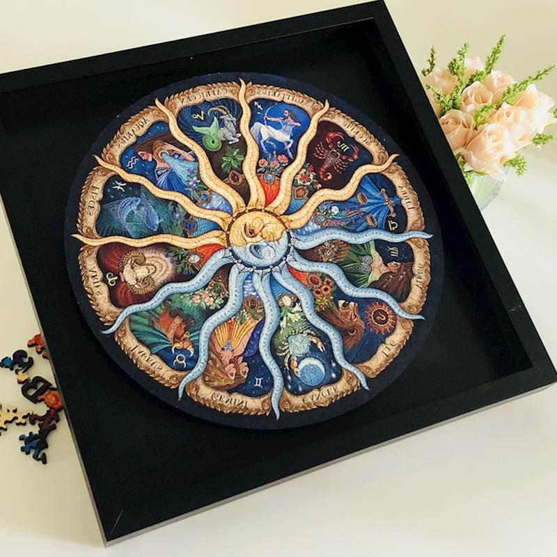 500 штук, пейзаж, головоломка, Зодиак, Зодиак, головоломка, коллекция игрушек, сделай сам, известные картины, бумажные пазлы, украшение дома, игрушка в подарок
