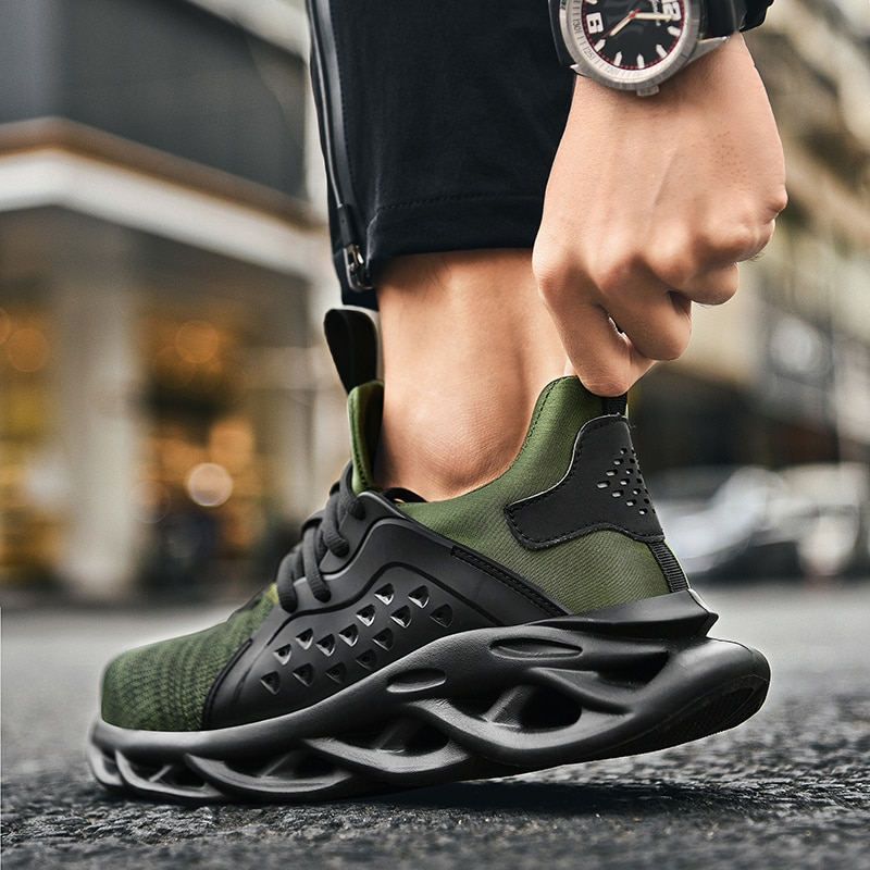 Men Casual Shoes Plus Size 14 Fashion Shoes Shockproof Lack Up Breathable Male Sneakers Height Increase Walking Gym Shoes Man