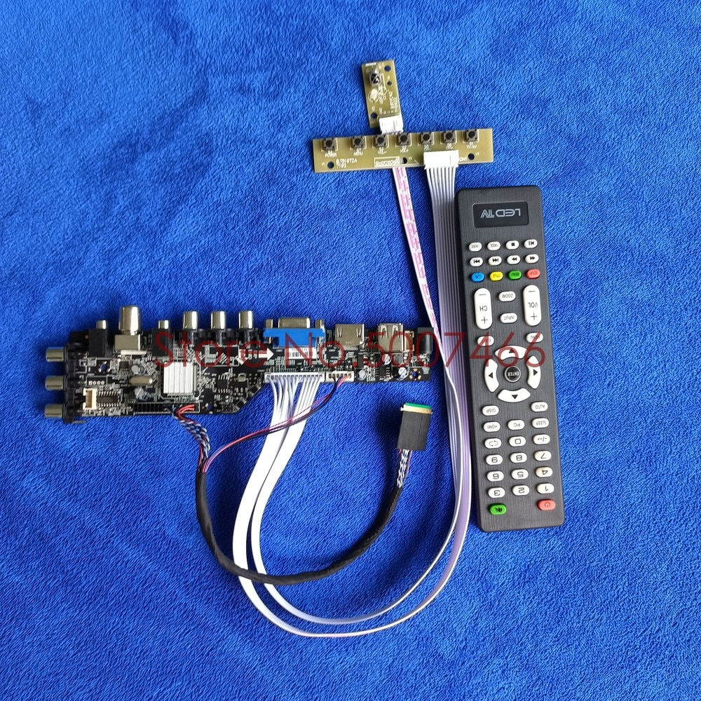 ل B116XW03 V.0/V.1/V.2 1366*768 DVB الرقمية LVDS 40 دبوس لوحة العالمي VGA USB AV TV 3663 وحدة تحكم بشاشة إل سي دي مجلس لتقوم بها بنفسك عدة