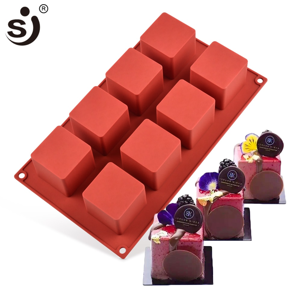 AliExpress - SJ 3d Rubik's Cube Mouse Silicone Cake Mold Chocolate Decoration Baking Tools Silicone Molds Tray Shape Silicon Bakeware